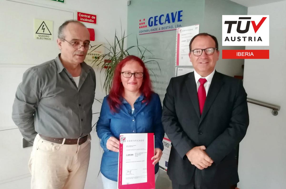 Banner Entrega do certificado ISO 9001:2015 à GECAVE