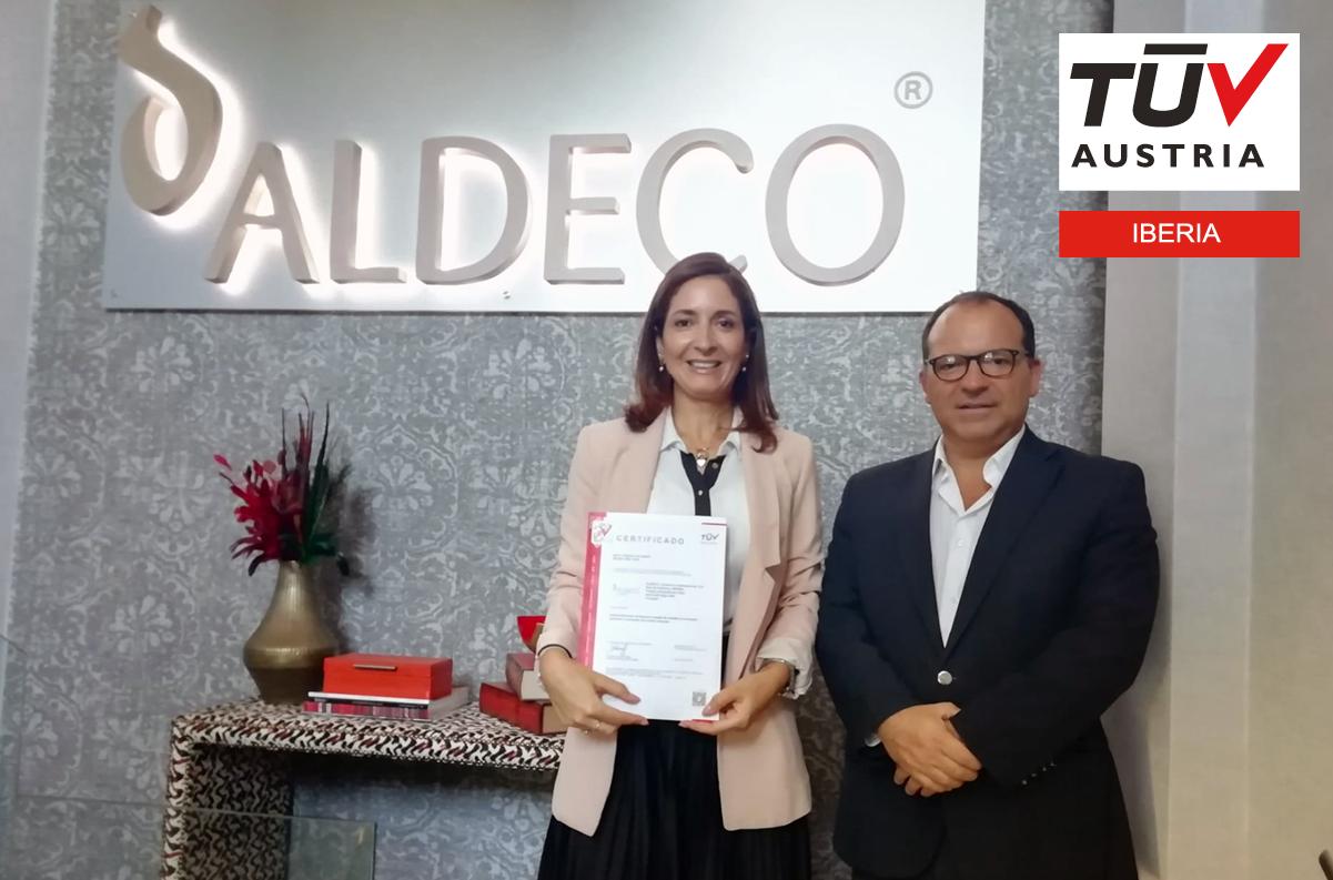 Banner Entrega dos certificados à ALDECO – COMÉRCIO INTERNACIONAL SA