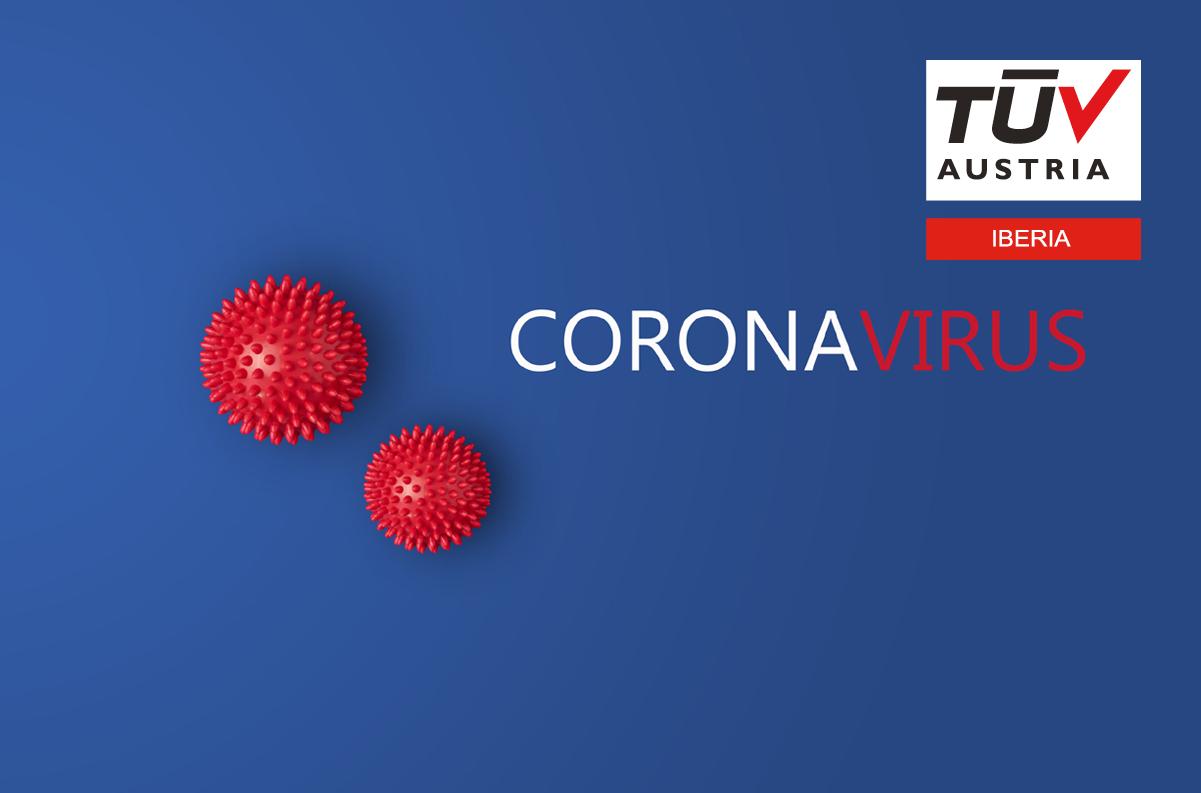 Banner COVID19: TÜV AUSTRIA IBERIA – Juntos e Fortes em Tempos de #Crise #Certificação #Soluções Remotas
