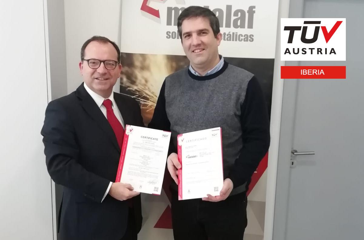 Banner METALAF recebe dupla certificação ISO 9001: 2015 e EN 1090
