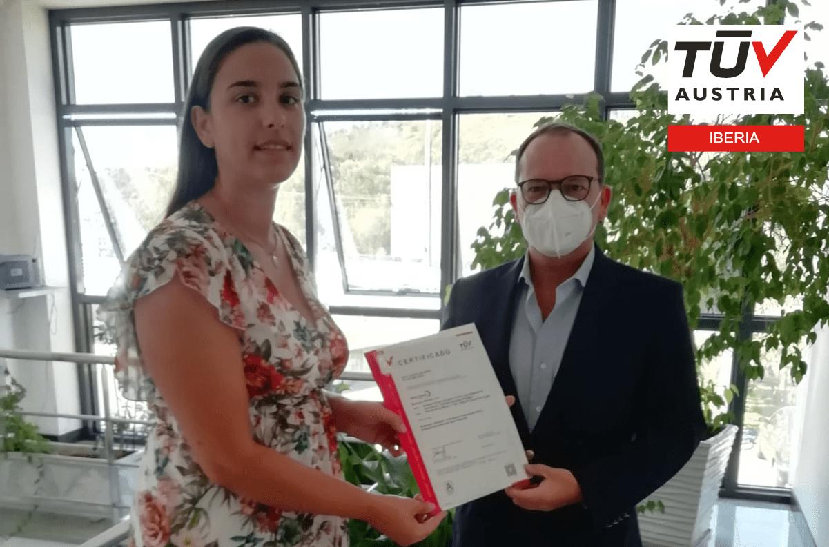 Banner Entrega do certificado TUV AUSTRIA ISO 9001:2015 à empresa BARBOSA & MOREIRA LDA.