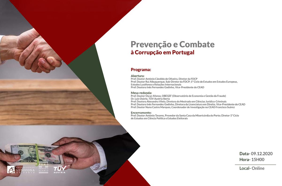 Banner Prevenção e Combate à Corrupção em Portugal