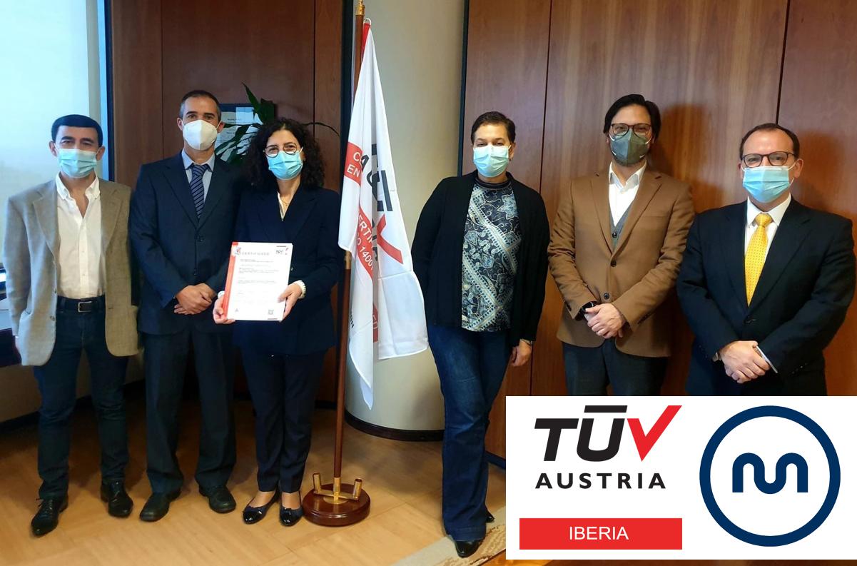 Banner Entrega de certificados TUV AUSTRIA à METRO DO PORTO S.A.