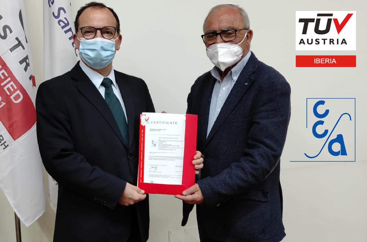 Banner Entrega do certificado ISO 9001:2015 ao CENTRO CULTURAL E SOCIAL DE SANTO ADRIÃO