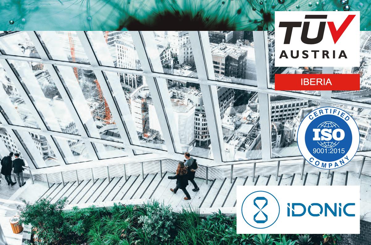 Banner A IDONIC renovou a certificação ISO 9001:2015